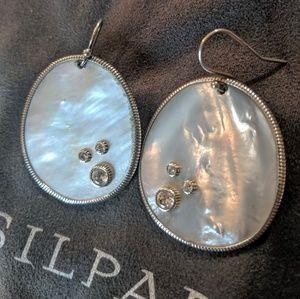 "Silpada Mother of Pearl ""Water Drop"" Earrings."